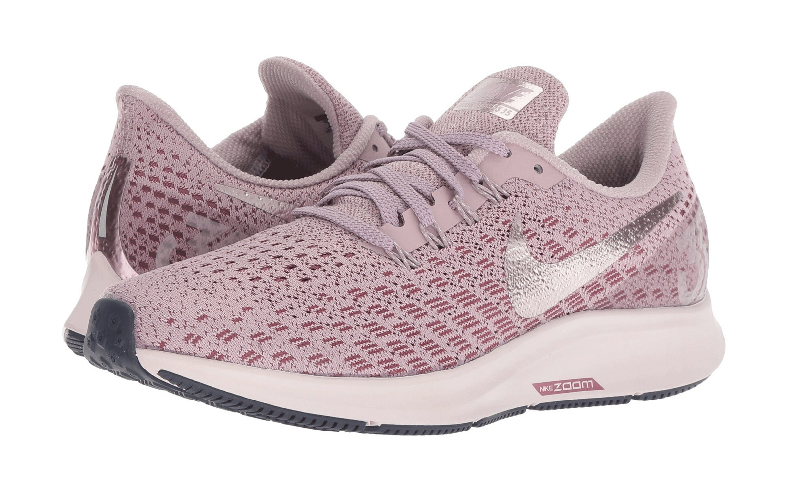 d0438217da29 Nike Air Zoom Pegasus 35 in Elemental Rose Barely Rose Vintage Wine. Best  Sneakers on Sale at Zappos