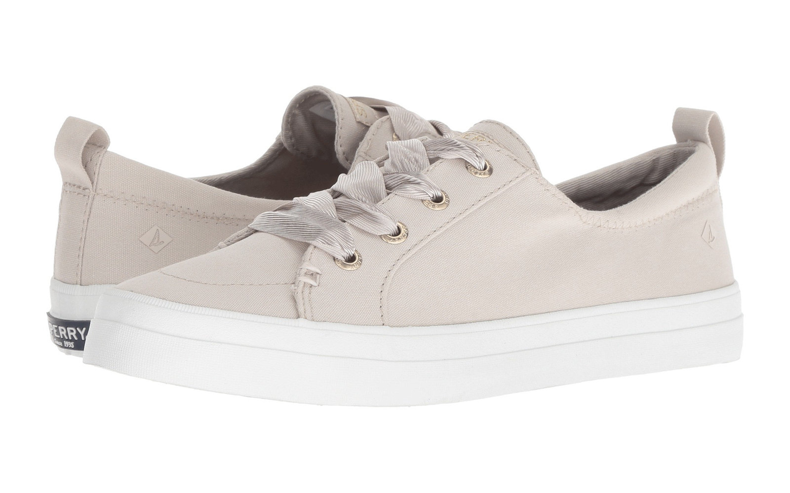 c86f81299fc0 Sperry Crest Vibe Satin Lace in Ivory. Best Sneakers on Sale at Zappos