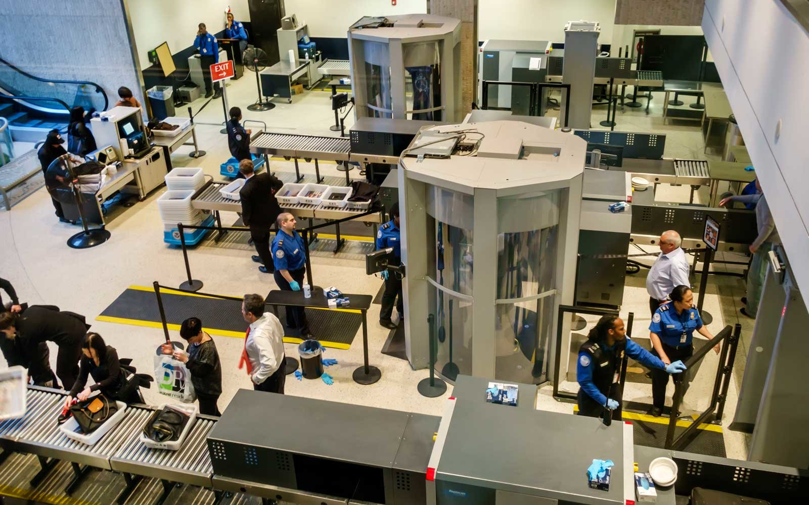 John F Kennedy Airport security checkpoint