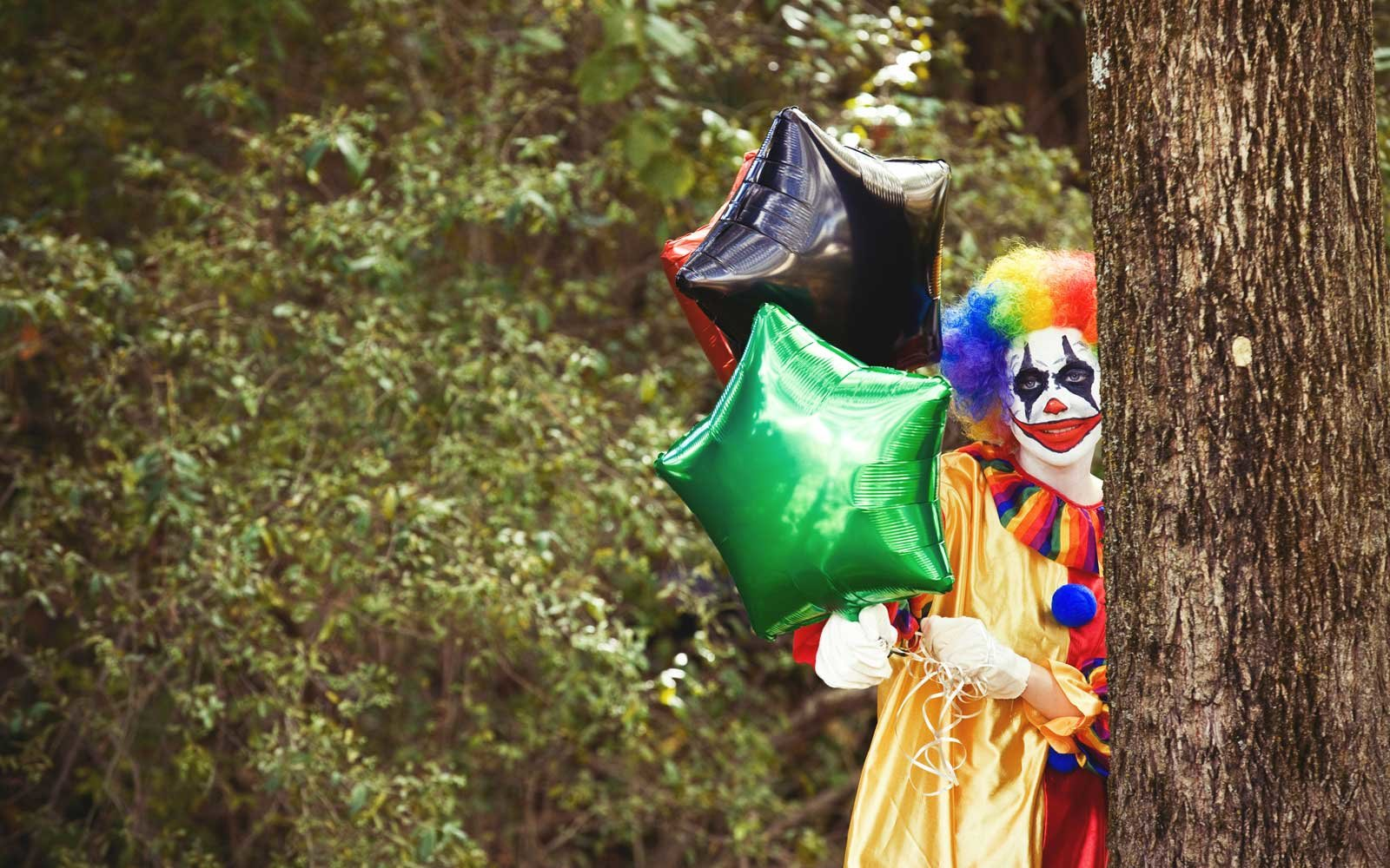 You can send a scary clown to deliver donuts (and nightmares) to your friends