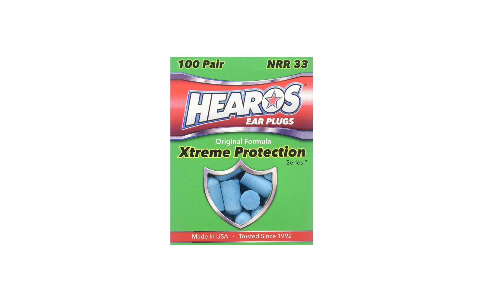 Best for Noise-cancelling: Hearos Xtreme 100 Pair Foam Earplugs