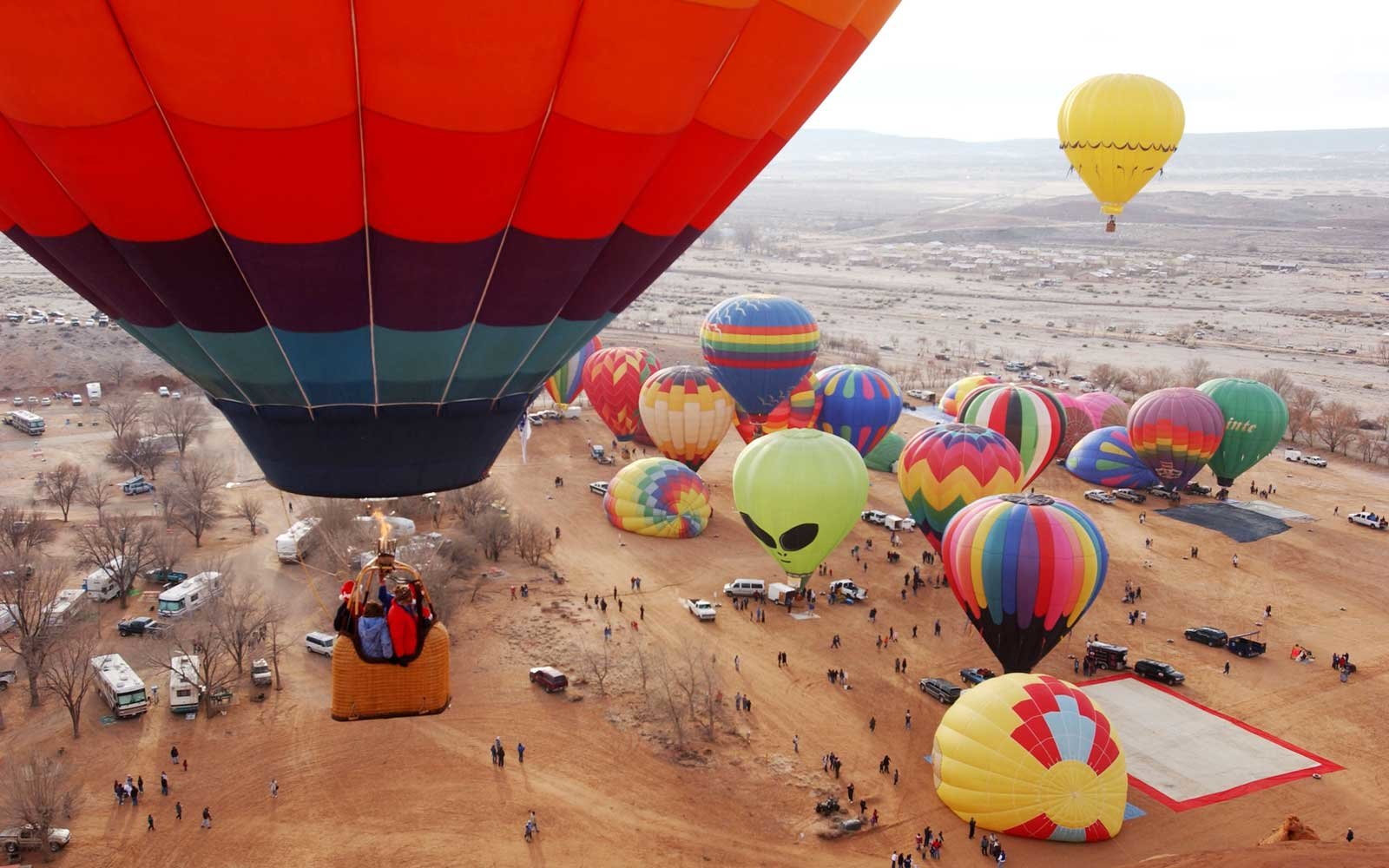 22nd Annual Red Rock Balloon Rally Held In New Mexico