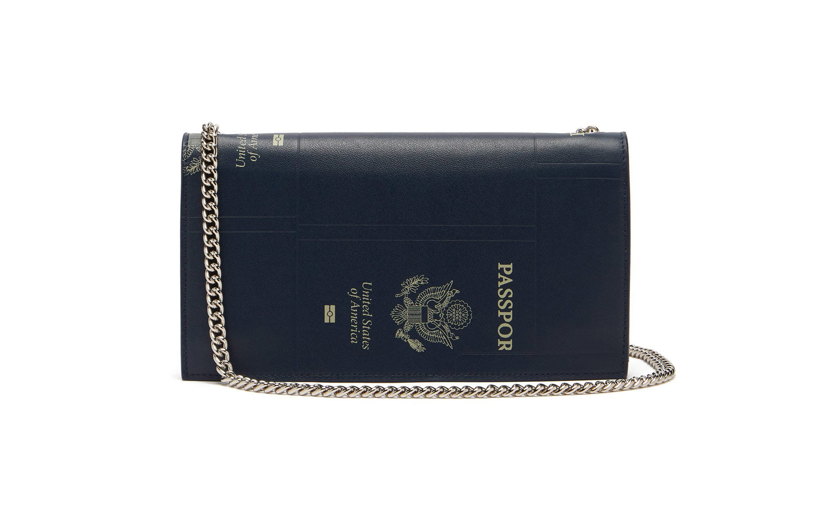 vetements passport leather clutch