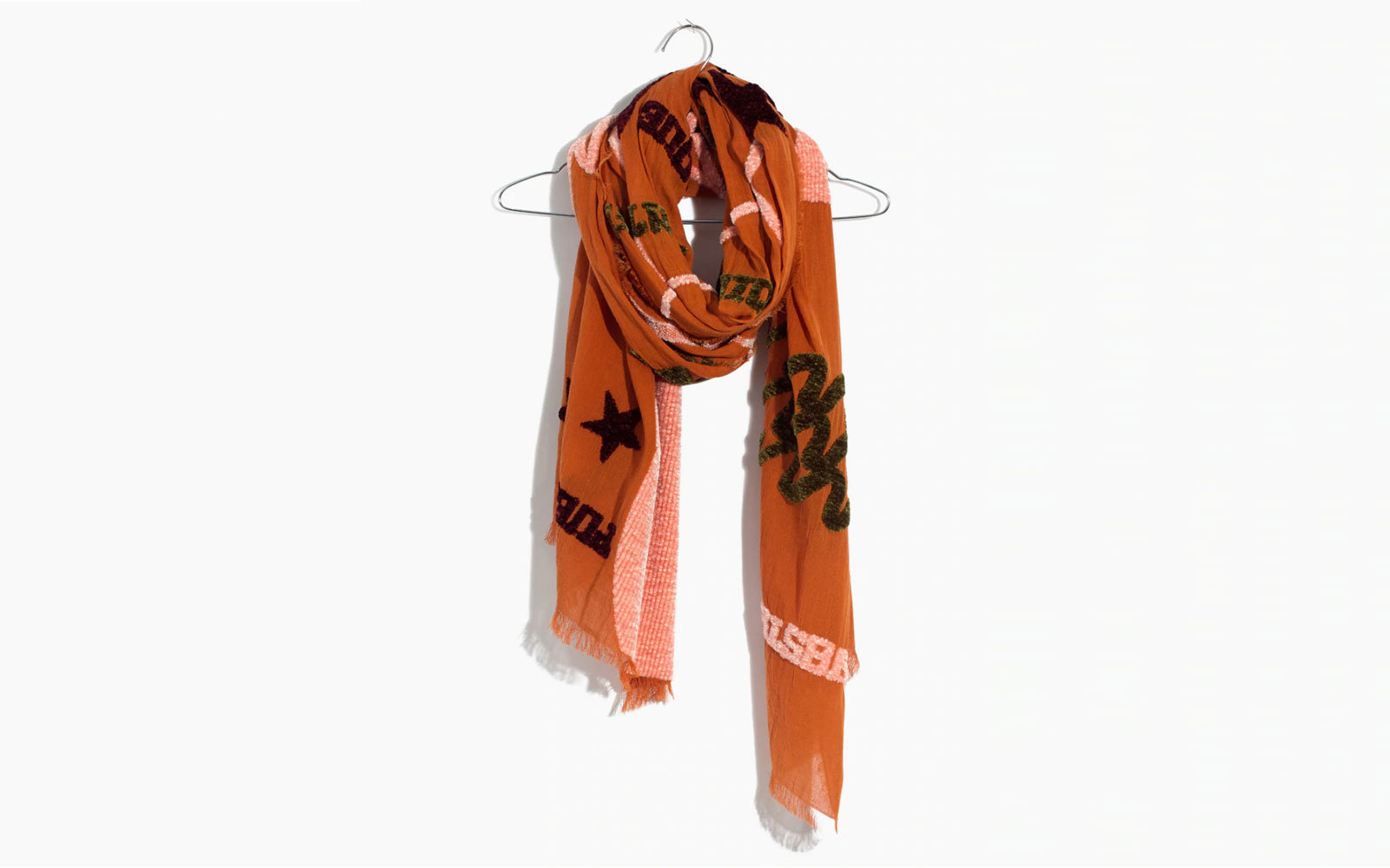 Madewell New Mexico Map Chenille Scarf
