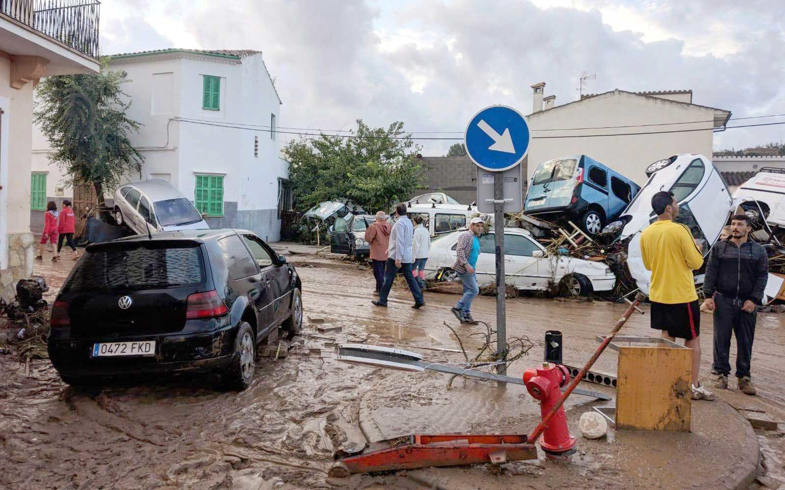Several people died in flash floods in Majorca island, Sant Llorenc, Spain - 10 Oct 2018