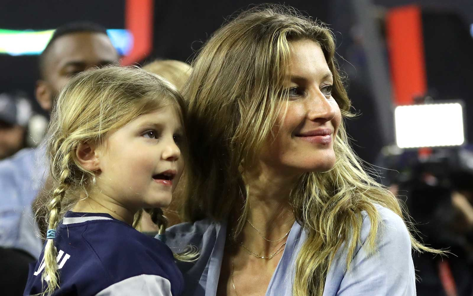Gisele Bundchen celebrates with daughter Vivian Brady