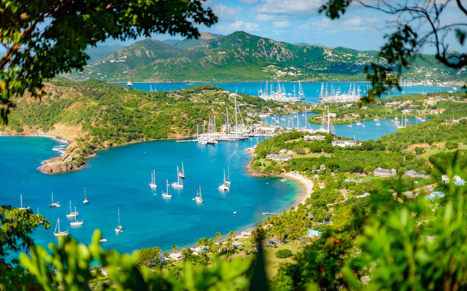 English harbour and Nelsons Dockyard in Antigua