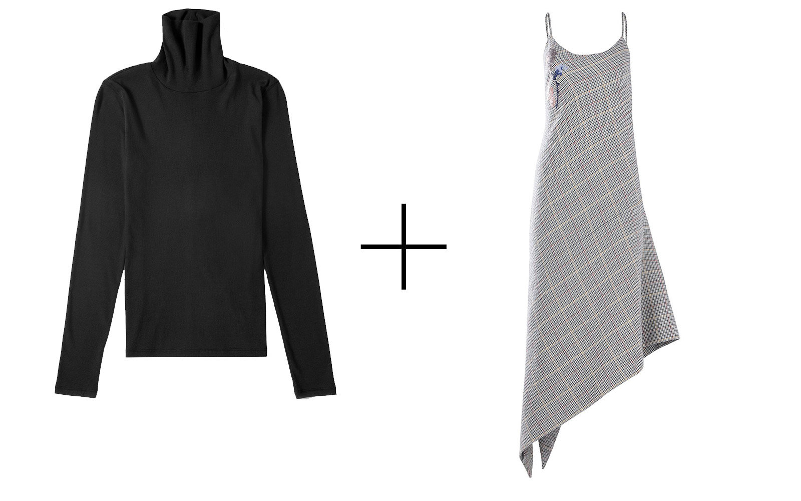 Everlane Pima Micro-rib Turtleneck + Silvia Tcherassi 'Cedrine' Dress