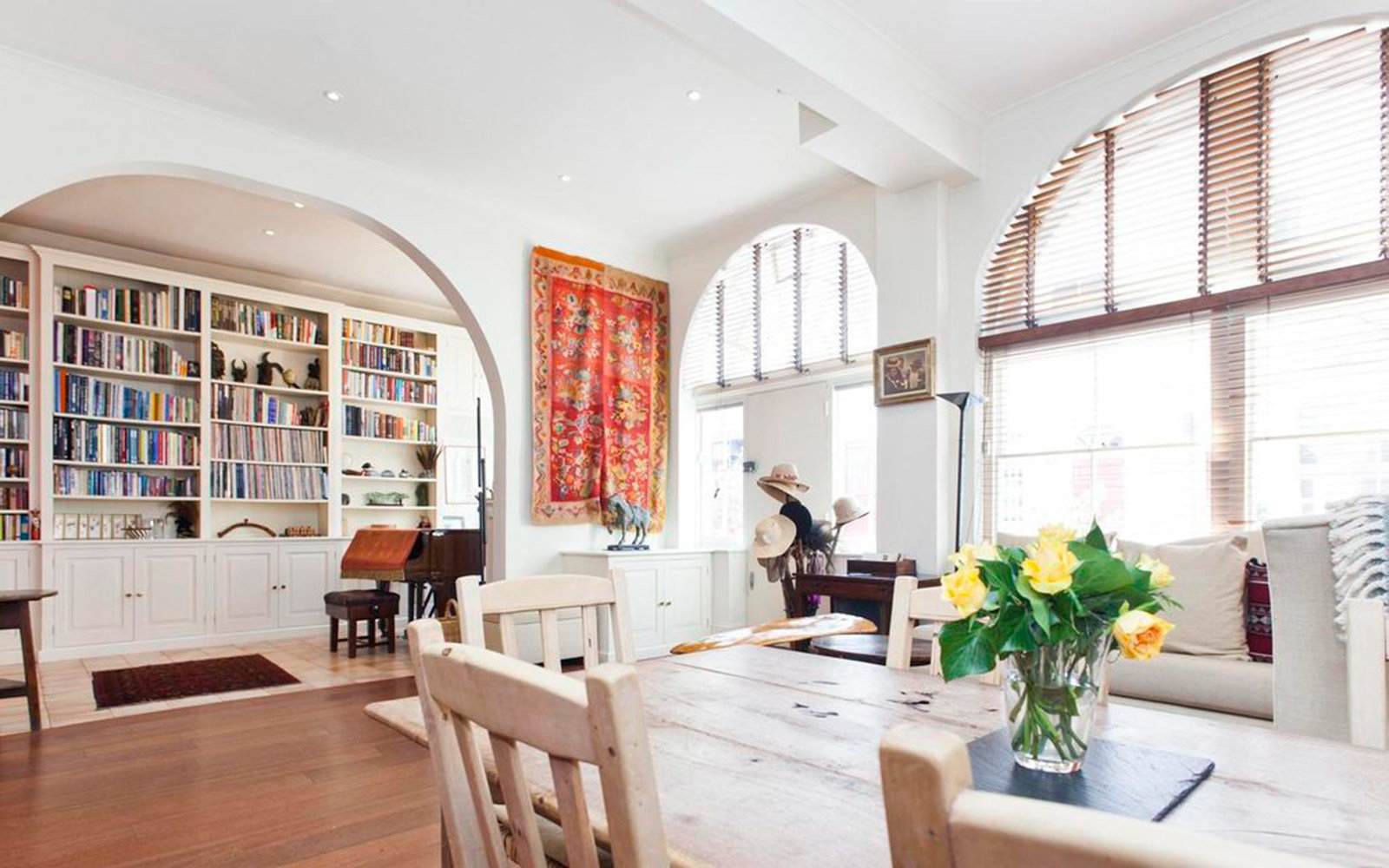 Dining Room at Madonna's Former Flat in London