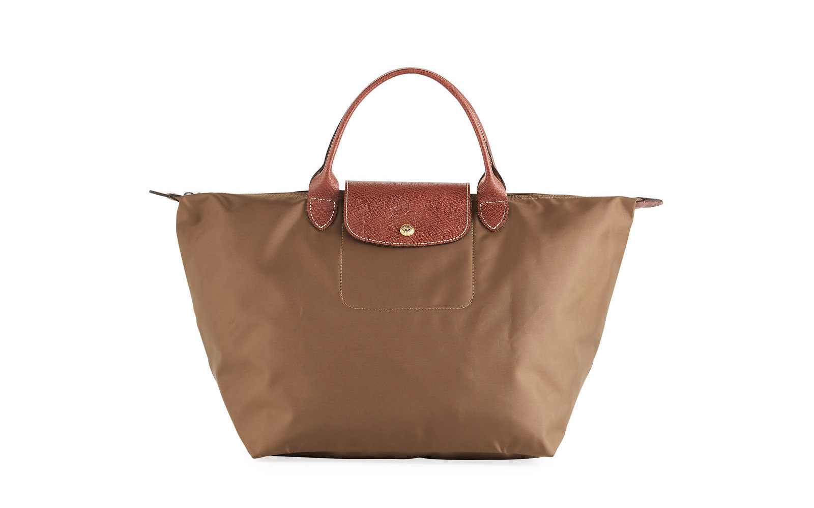 Longchamps Best Travel Bags Are Majorly On Sale Right Now Longchamp Le Pliage Neo Small Medium Tote Bag In Khaki