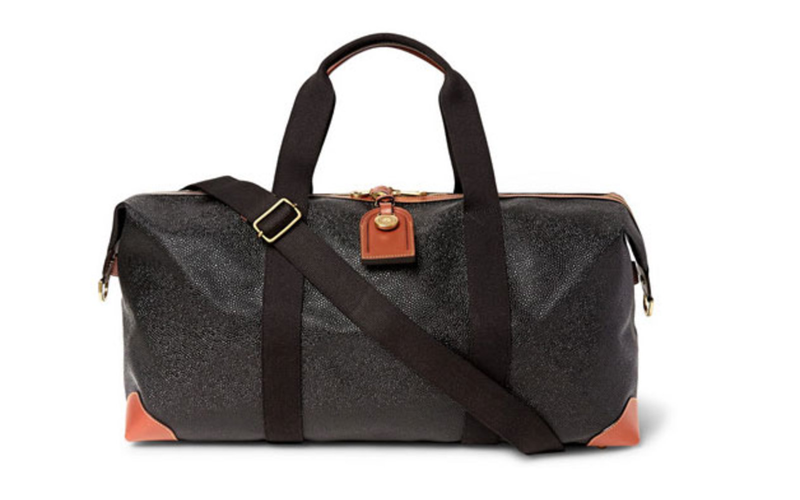 Medium Clipper Pebble-Grain Leather Holdall