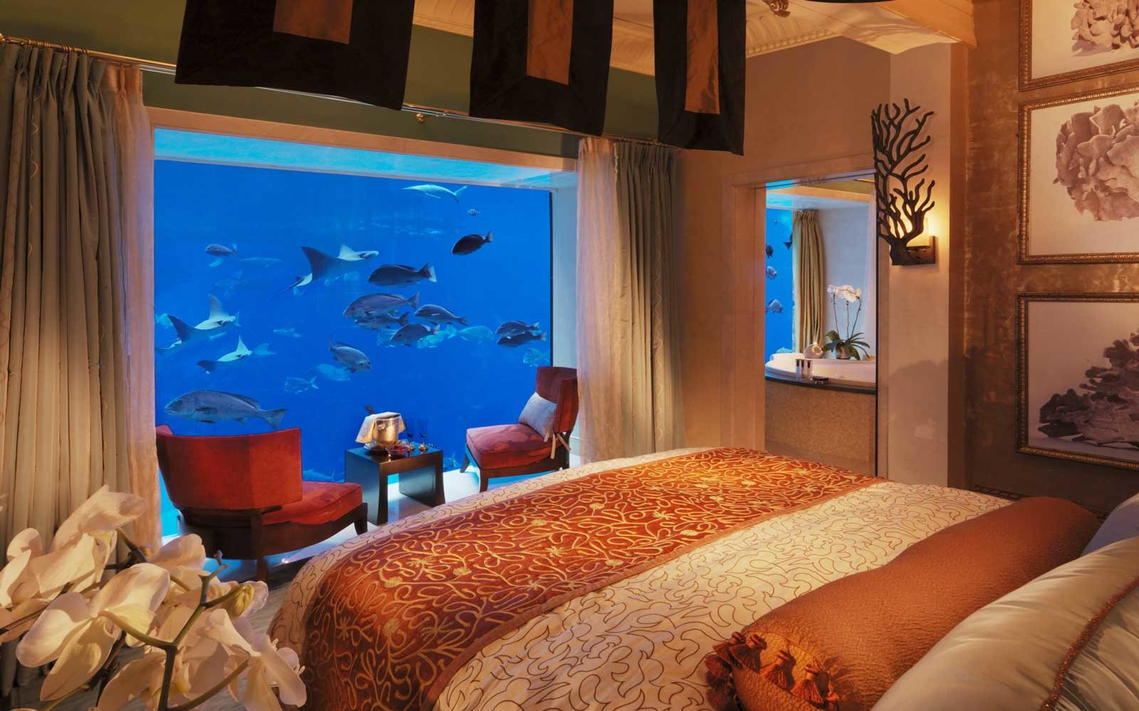 Underwater suite at the Atlantis the Palm hotel, in Dubai