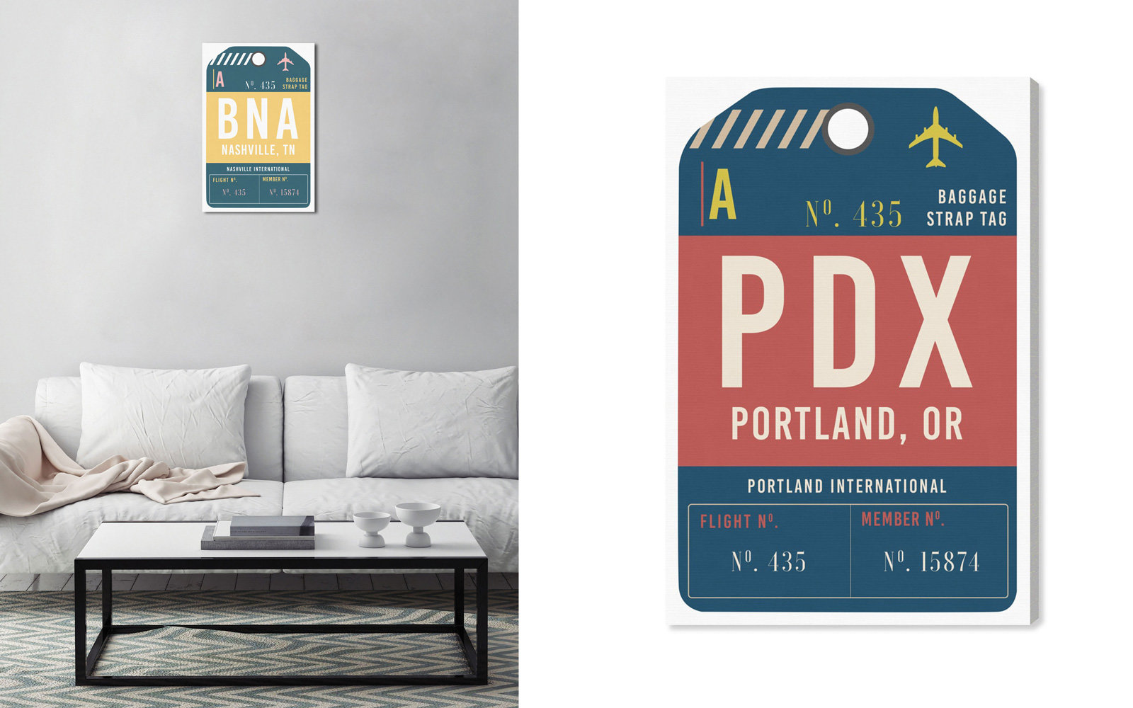 luggage tag poster