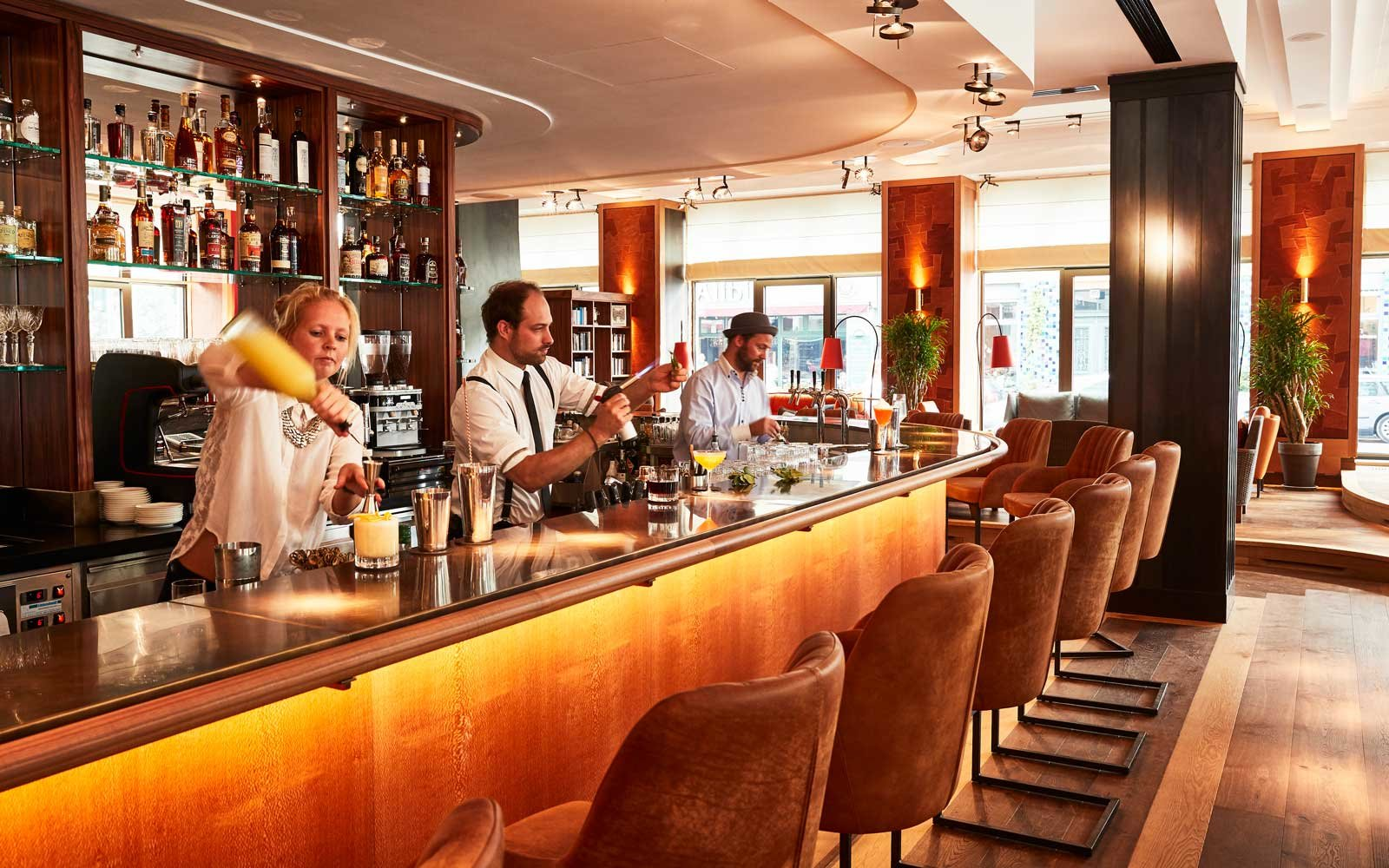 Bar at the Orania Hotel in Berlin, Germany