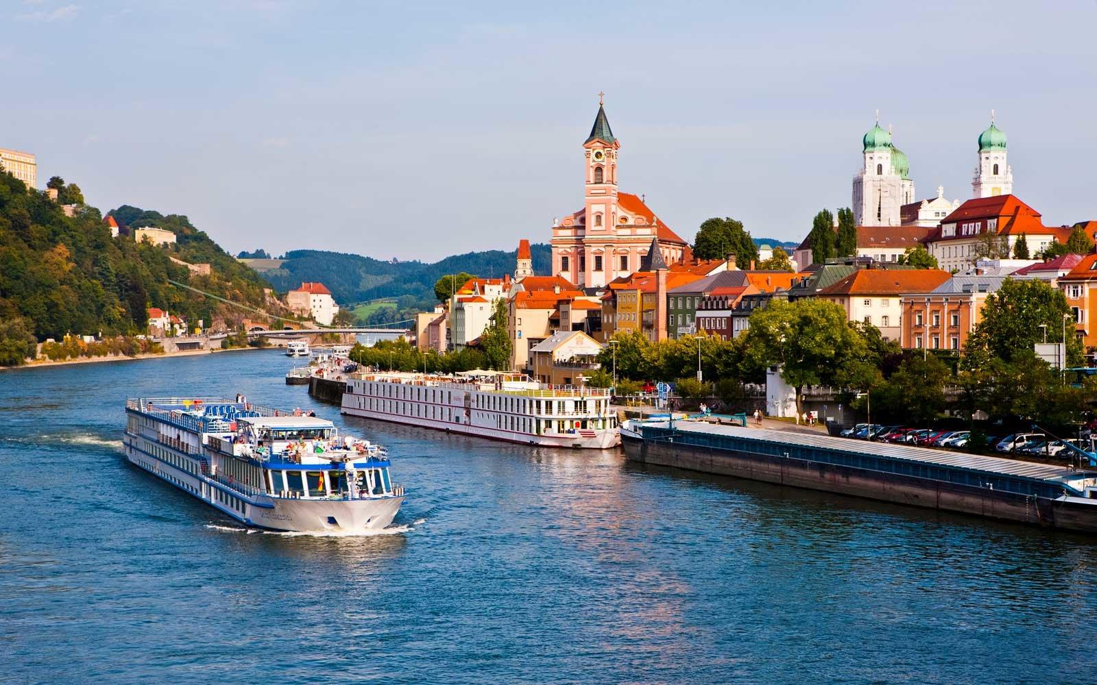 Danube, River, with cruise ship