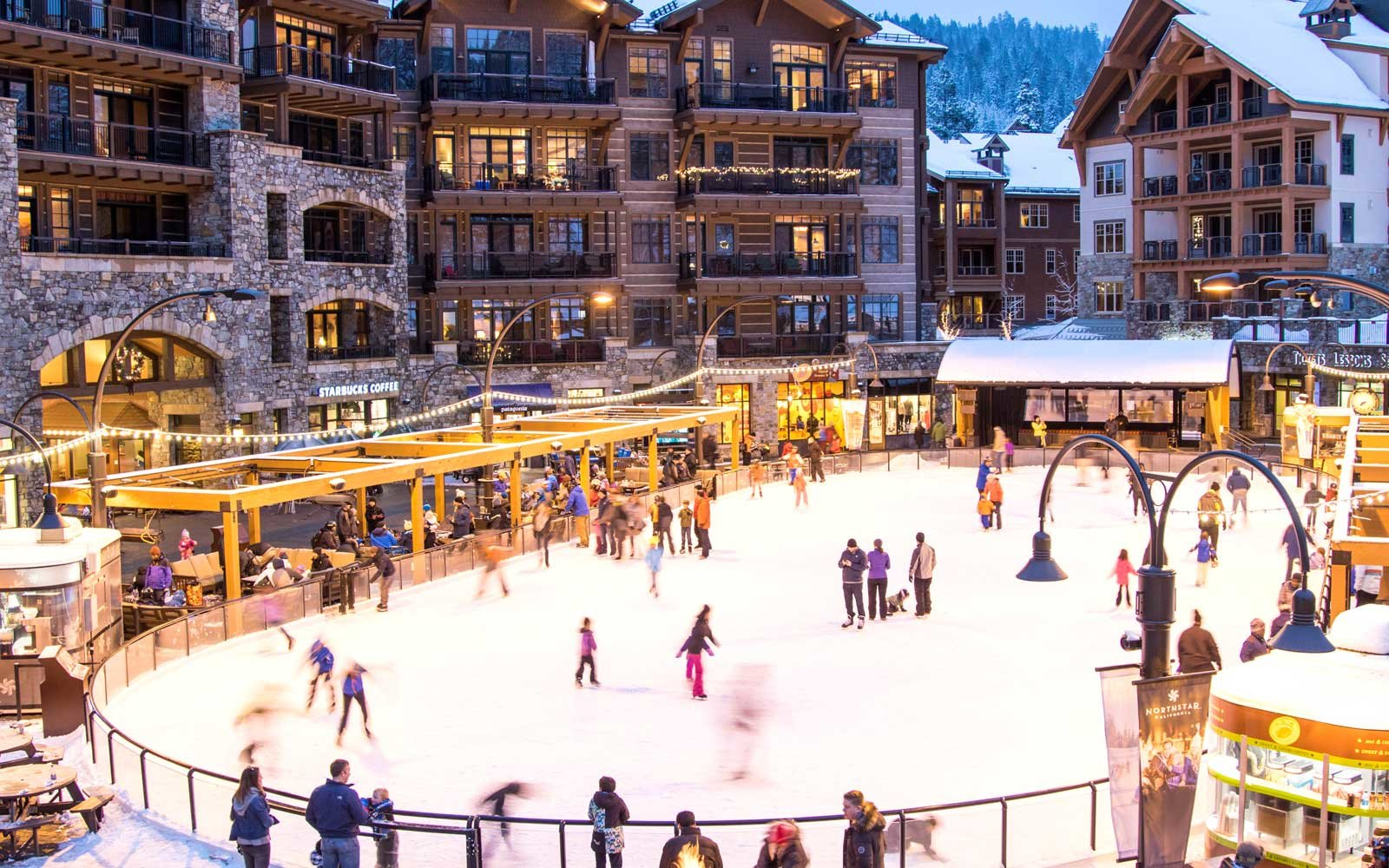 Ice skating rink at Northstar Resort