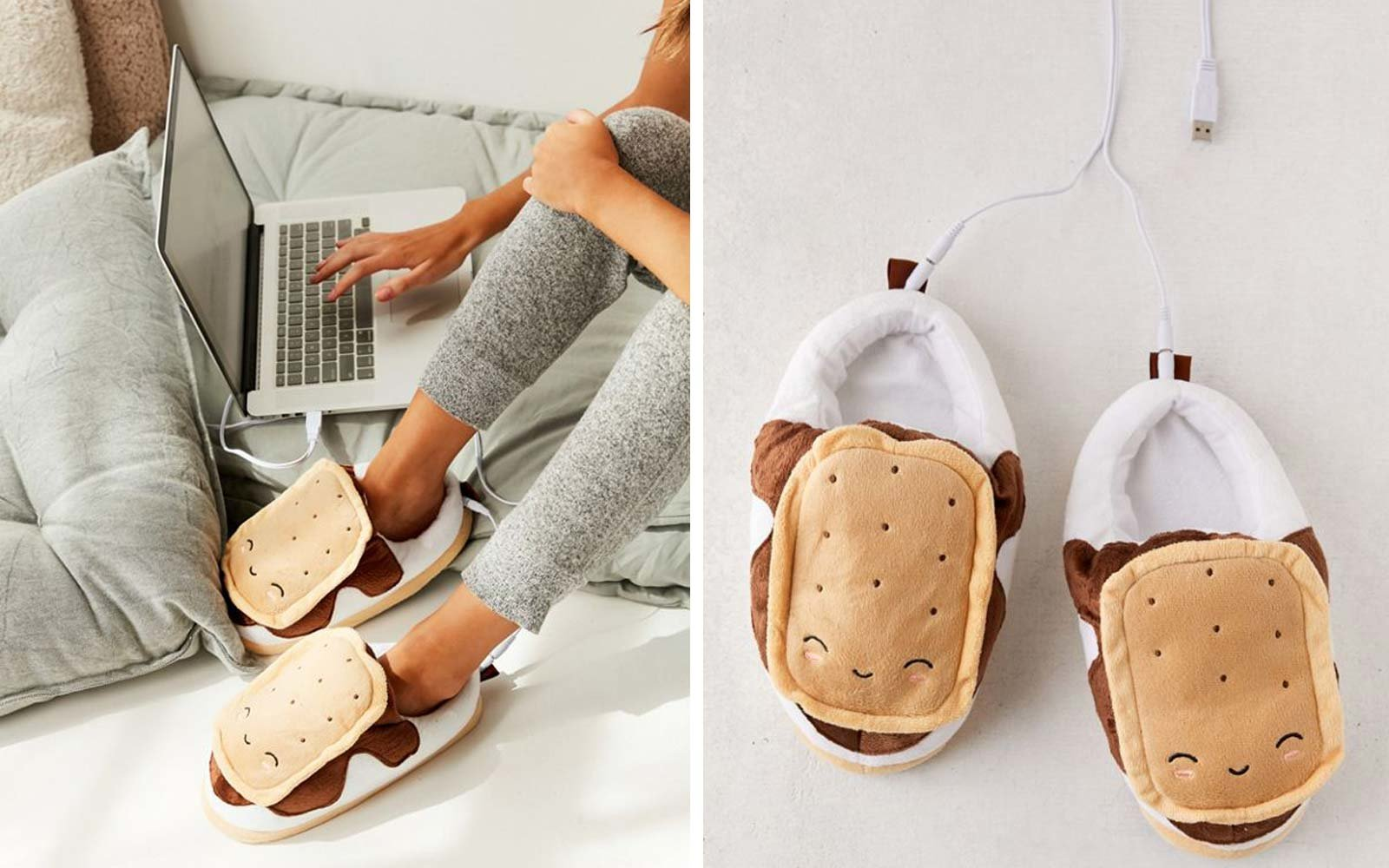 Smoko S'mores USB Heat-Up Plush Slipper
