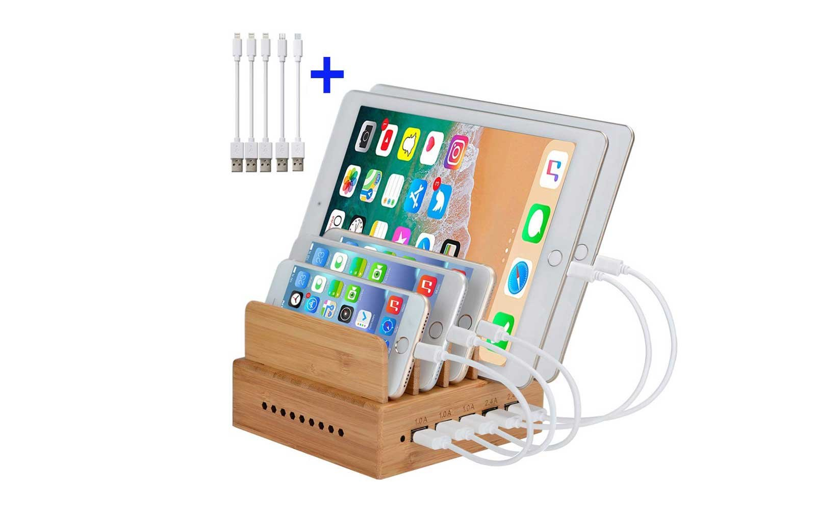 Gifts to get on Amazon InkoTimes Bamboo Wooden Charging Dock