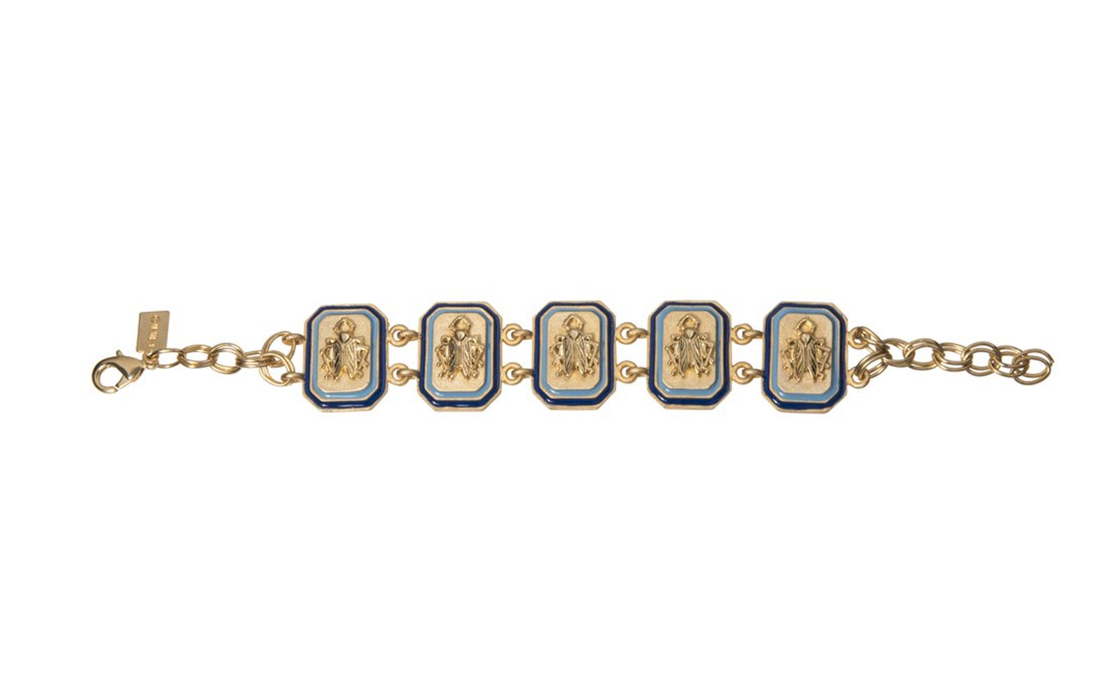 Coghan's Jewel Box Goldbug Tangled Up in Blue Link Bracelet