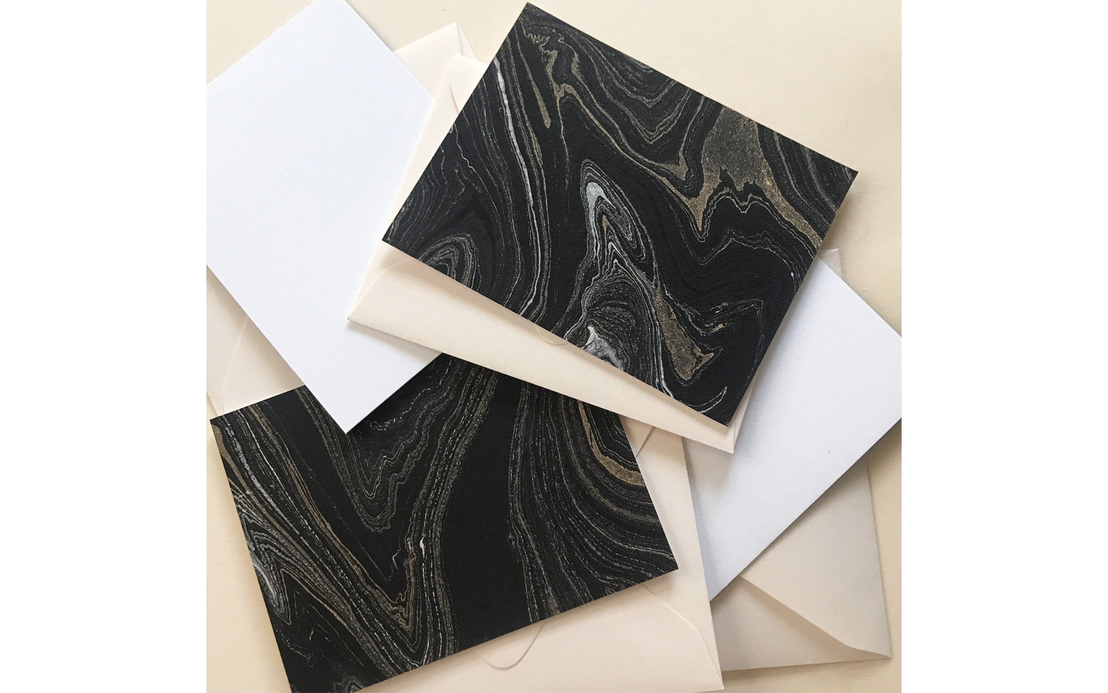 Etsy SYGwares Marbled Note Card Set