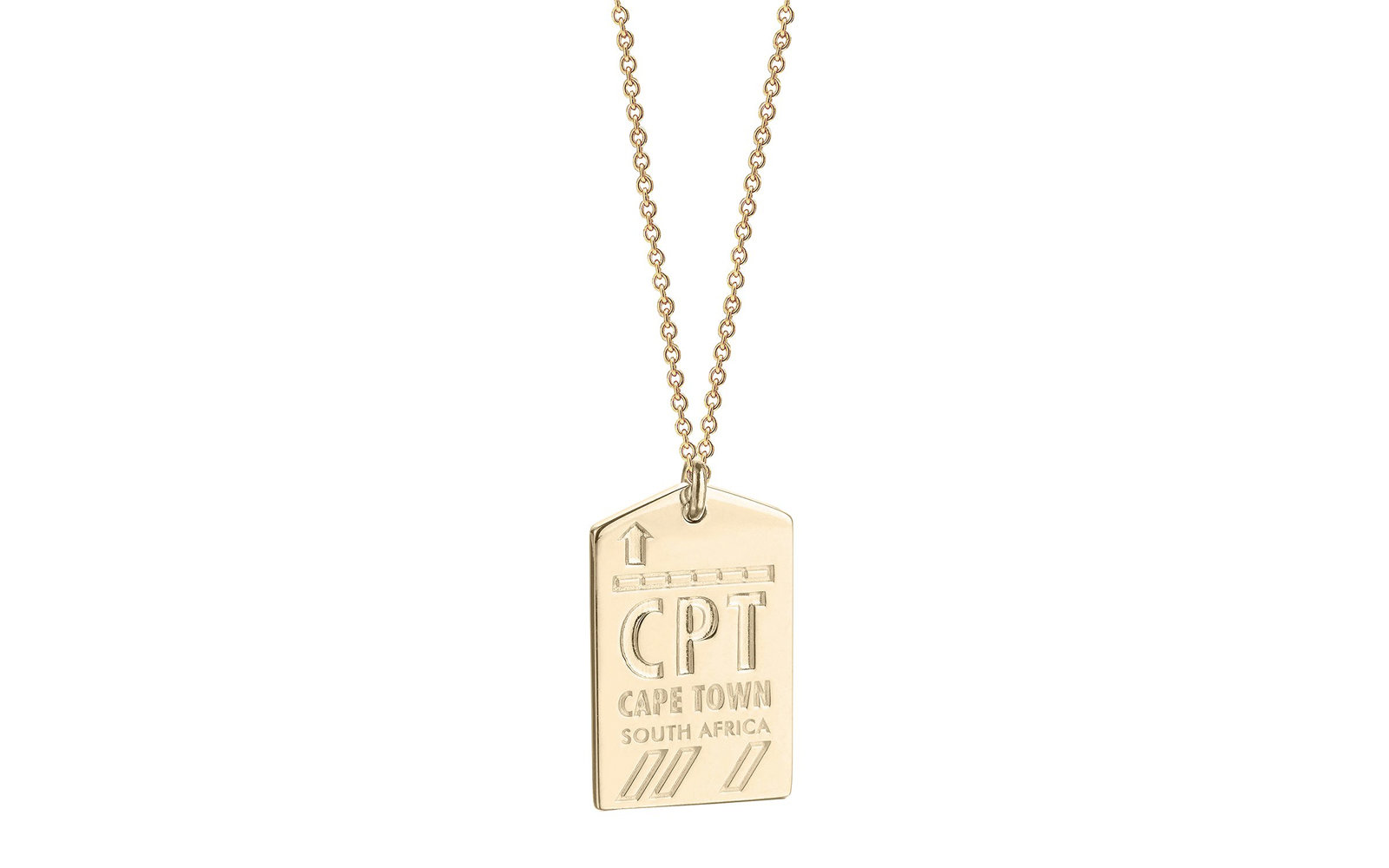 Jet Set Candy Luggage Tag Charm Necklace