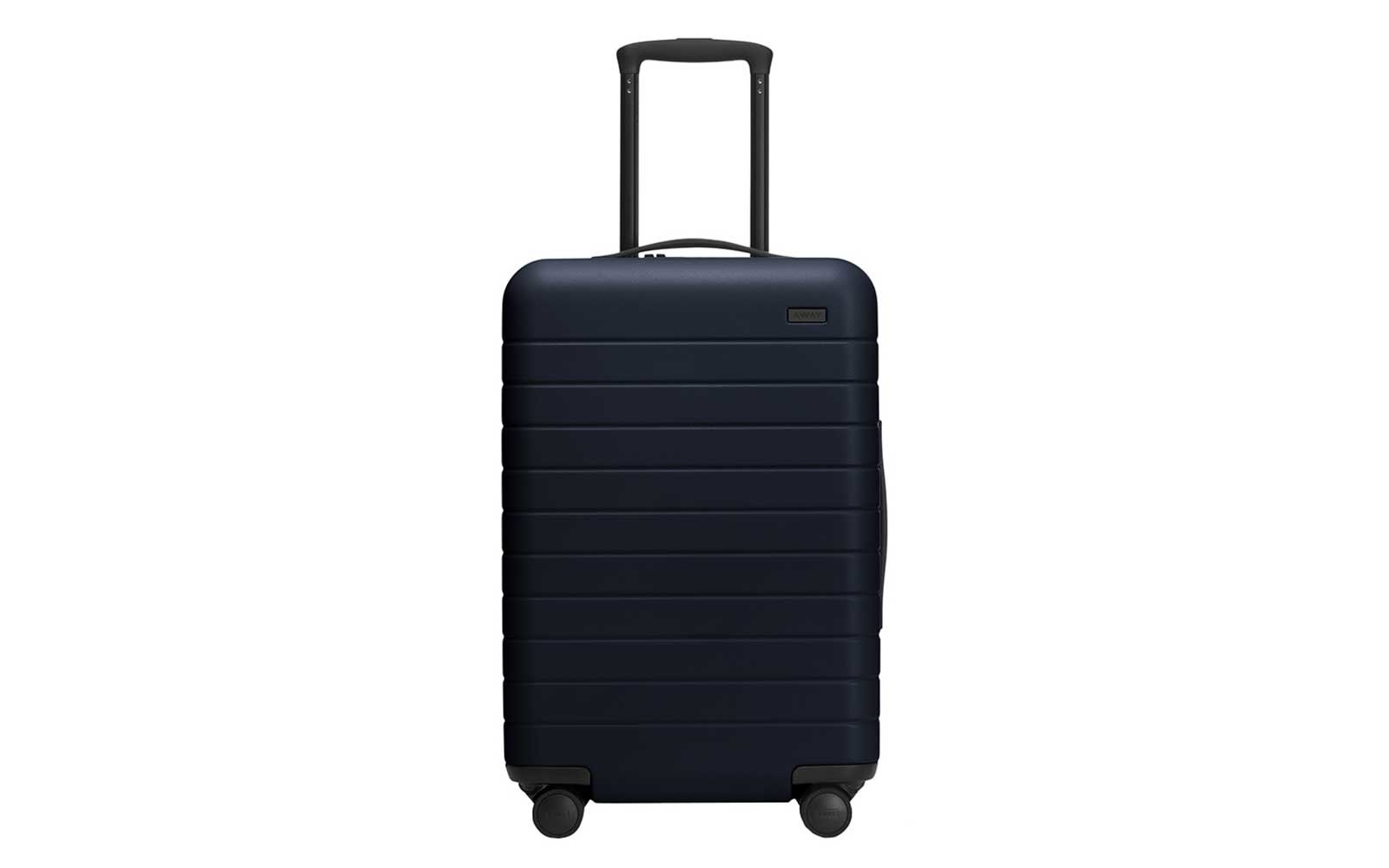 Away classic navy rolling suitcase