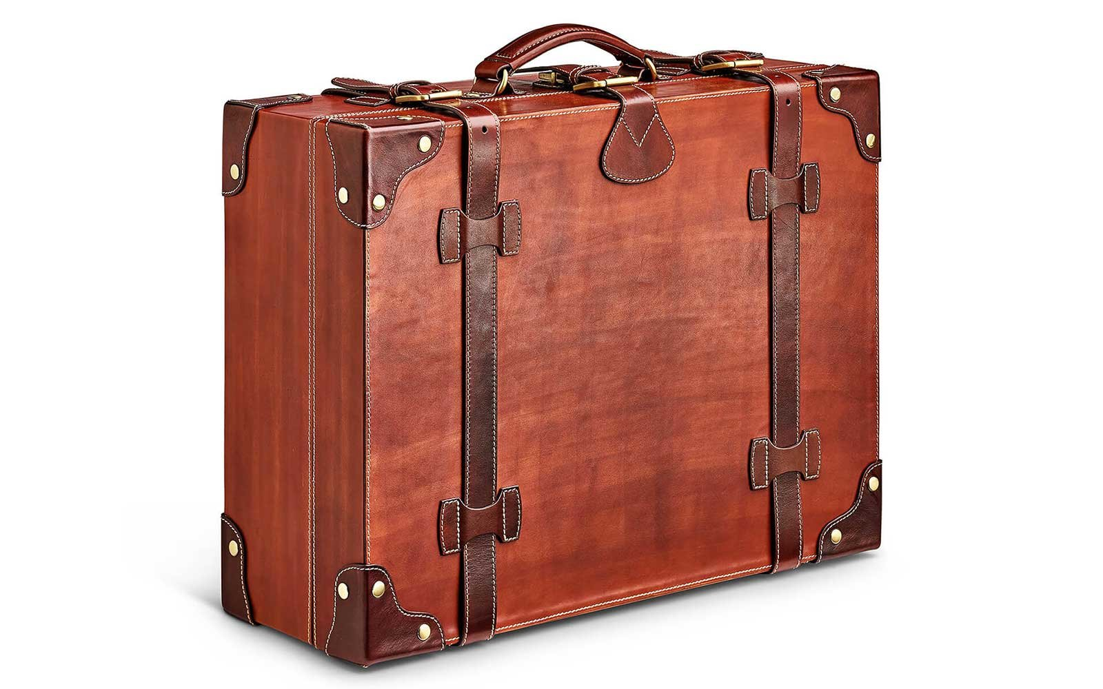Moral Code leather suitcase