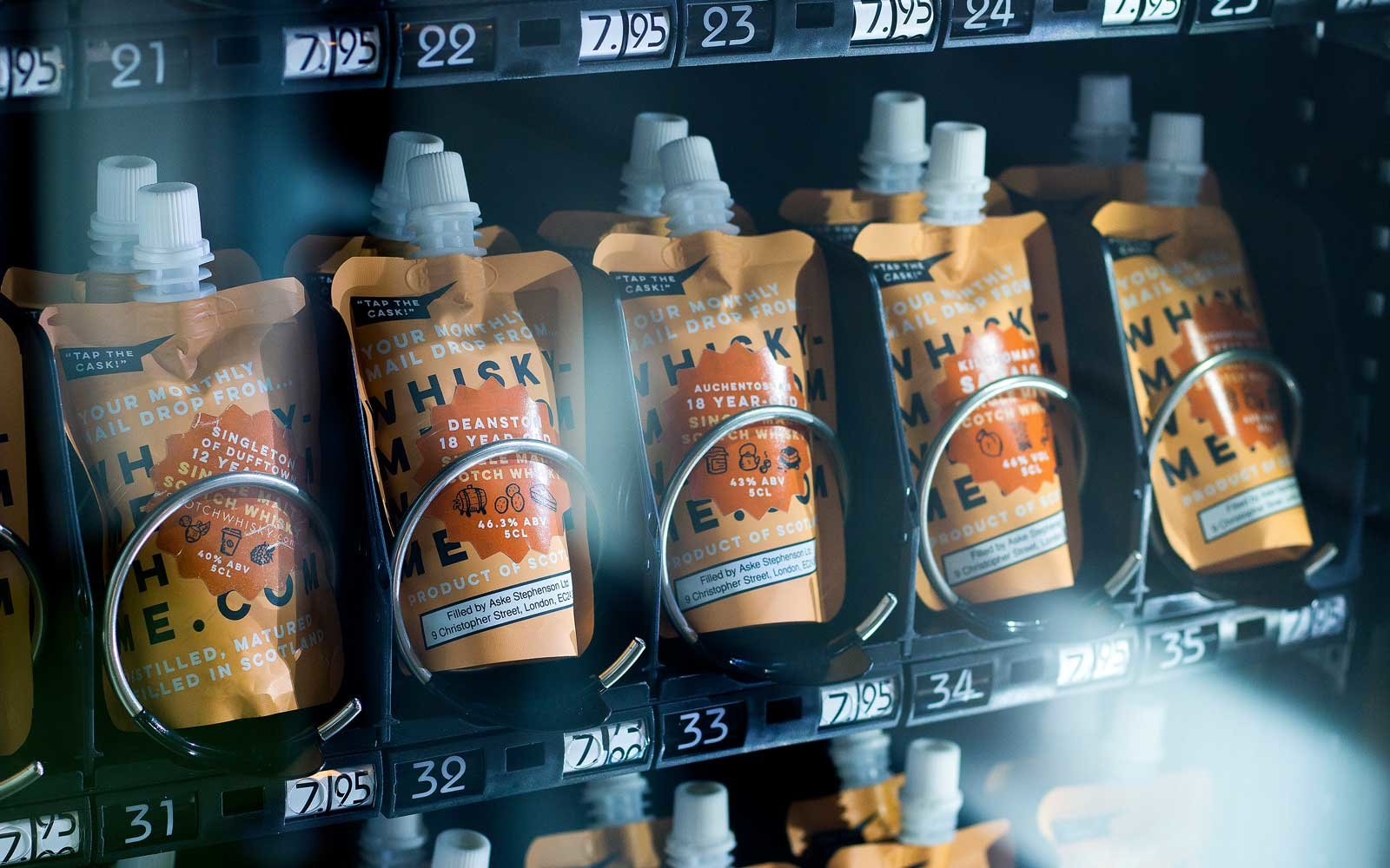 Guests can grab whisky on the go with a new vending machine.