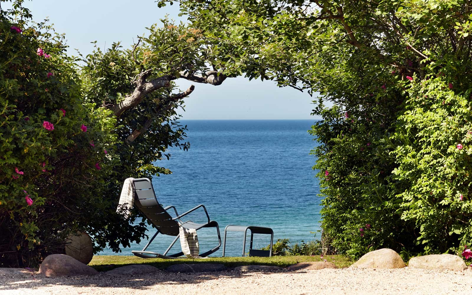 The Kattegat Sea, as seen from the Helenekilde Badehotel, in Tisvildeleje, Denmark.