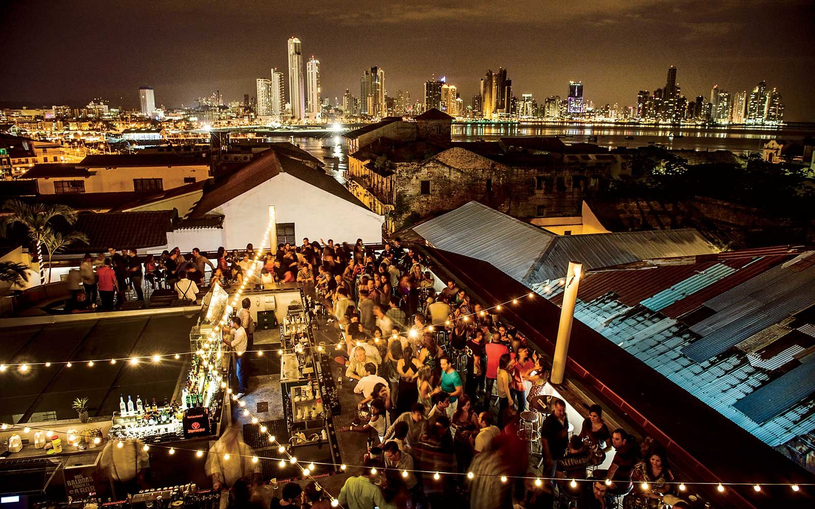 Tantao rooftop club in Panama City's Old Town
