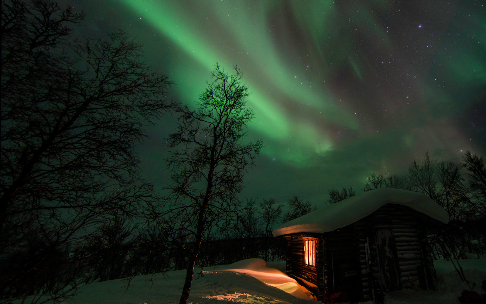 Northern Lights in Utsjoki, Finland