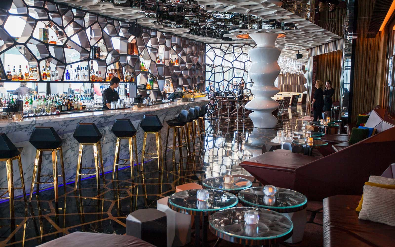 Ozone bar (highest in the world) in Ritz Carlton inside ICC, Kowloon, Hong Kong