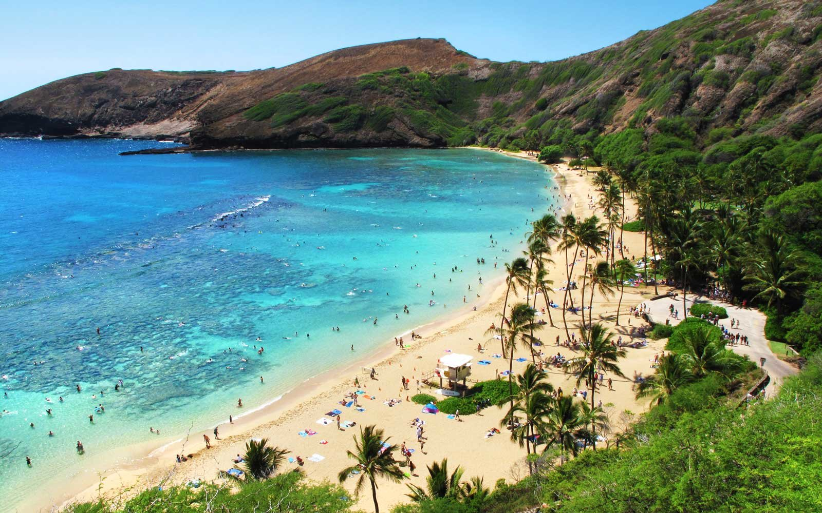 Hanauma Bay, Honolulu, on the Island of O'ahu, Hawaii