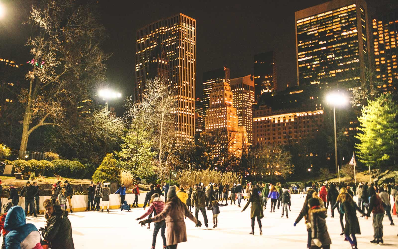 Ice skating in Central Park, New York City