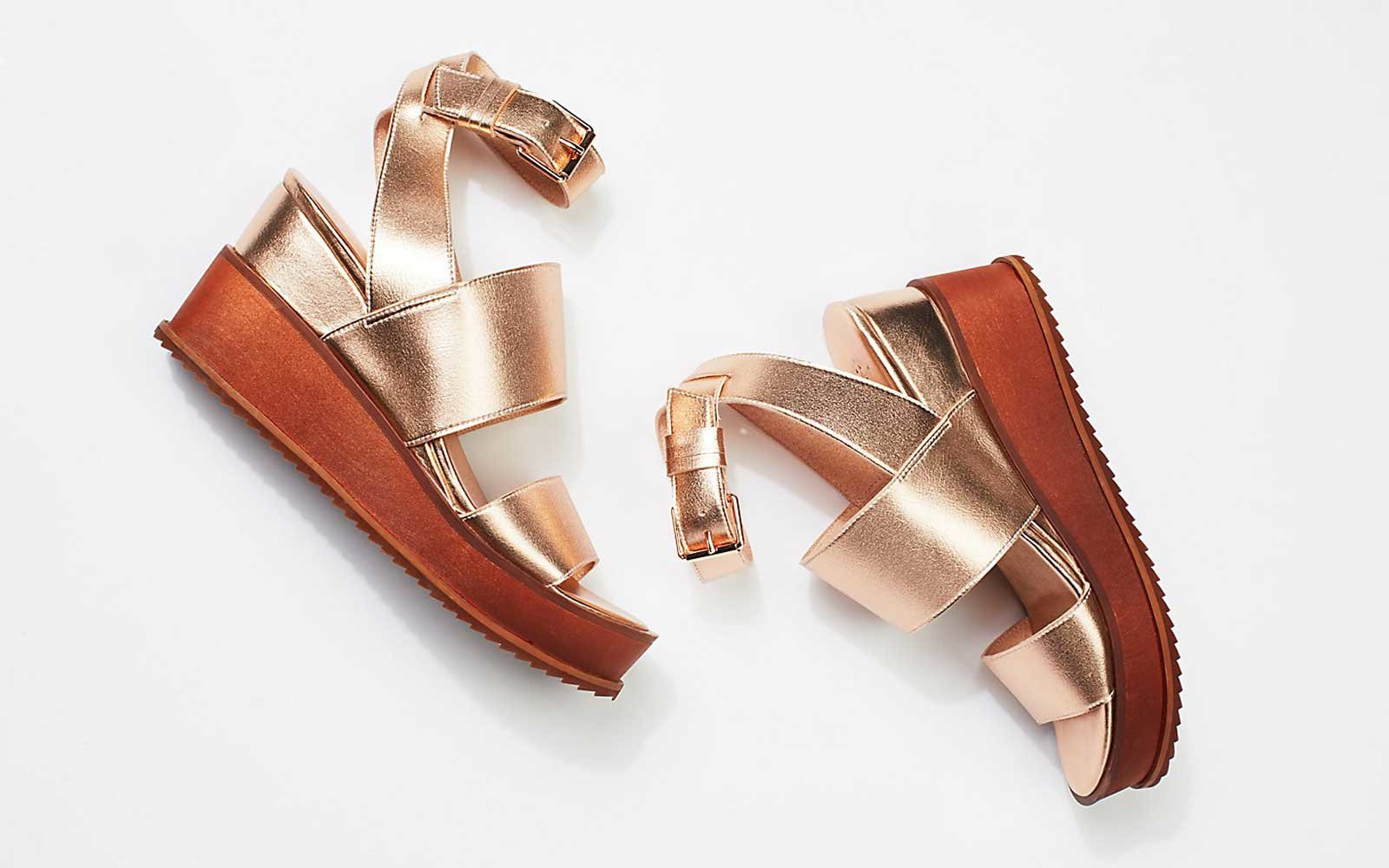 Rose Gold wedges by Free People