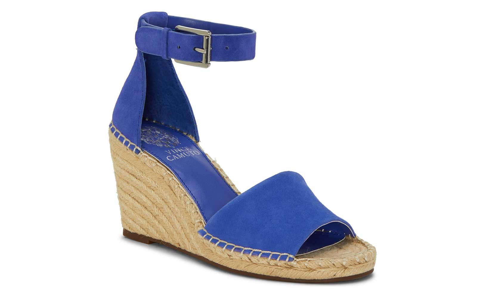 Blue Suede wedges by Vince Camuto
