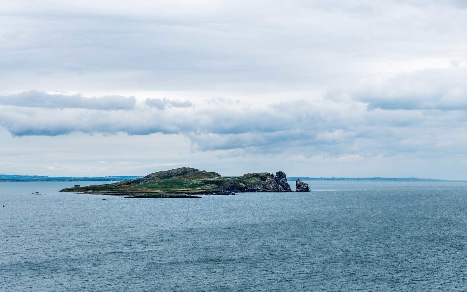 View of Ireland's Lambay Island, home to an unexpected population of wallabies