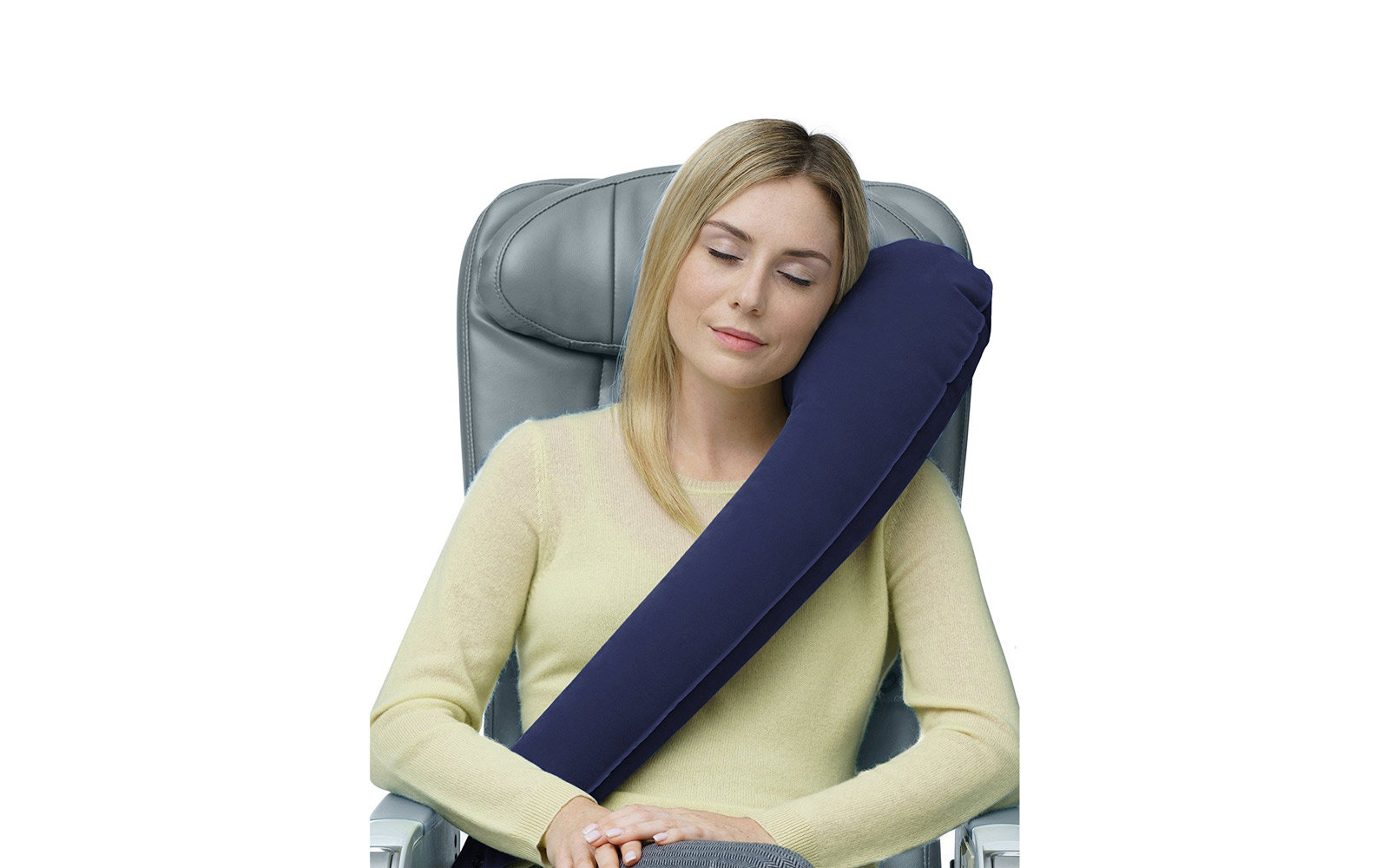 12. Travelrest Ultimate Inflatable Travel Pillow