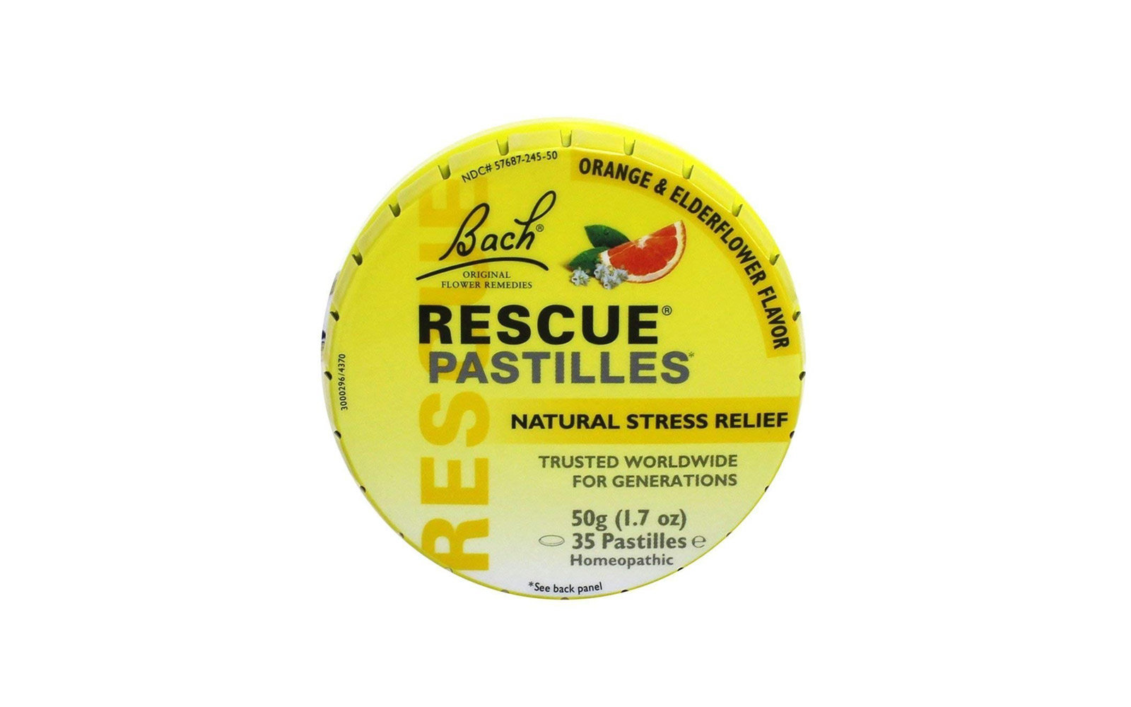15. Bach Rescue Remedy Natural Stress Relief Pastilles