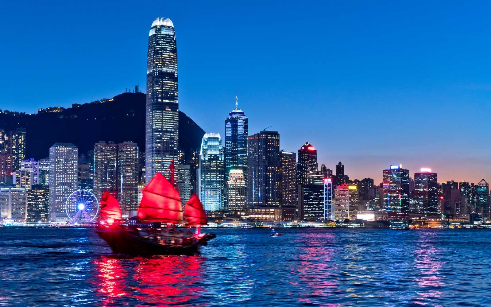 Hong Kong cityscape at twilight