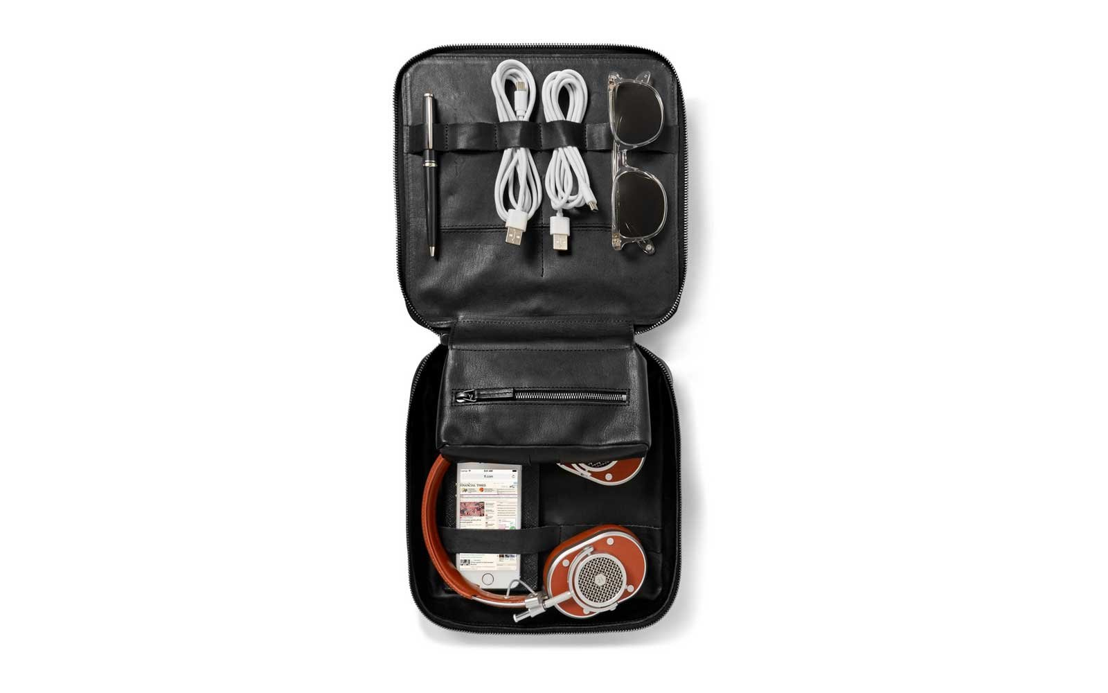This Is Ground Grande Tech Leather Travel Organizer