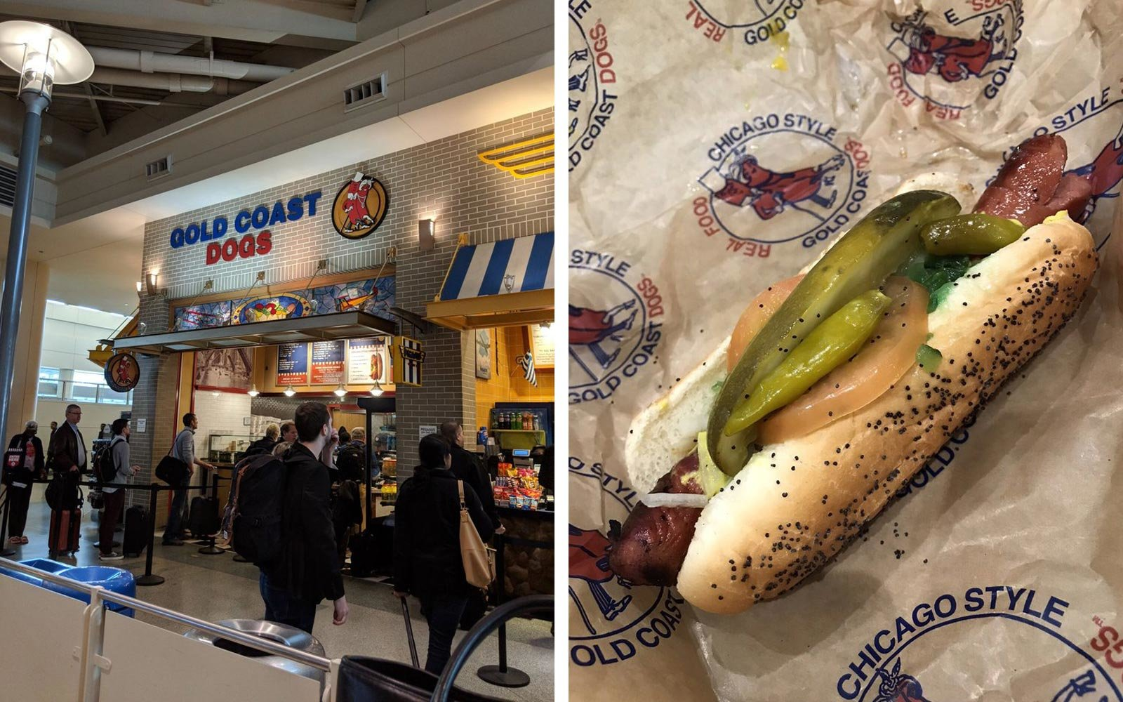 Gold Coast Dogs, Midway International Airport, Chicago