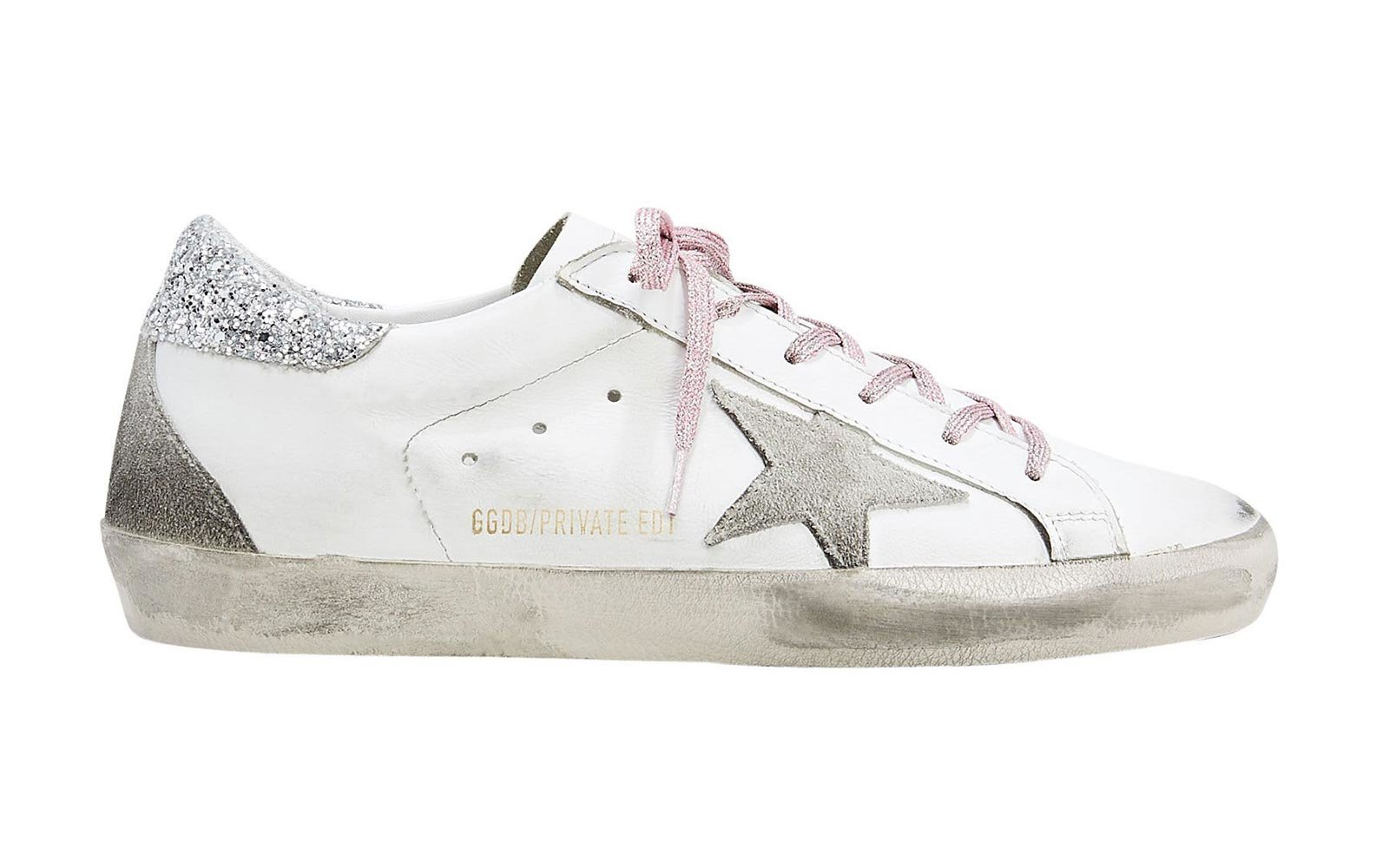 Golden Goose pink lace sneakers