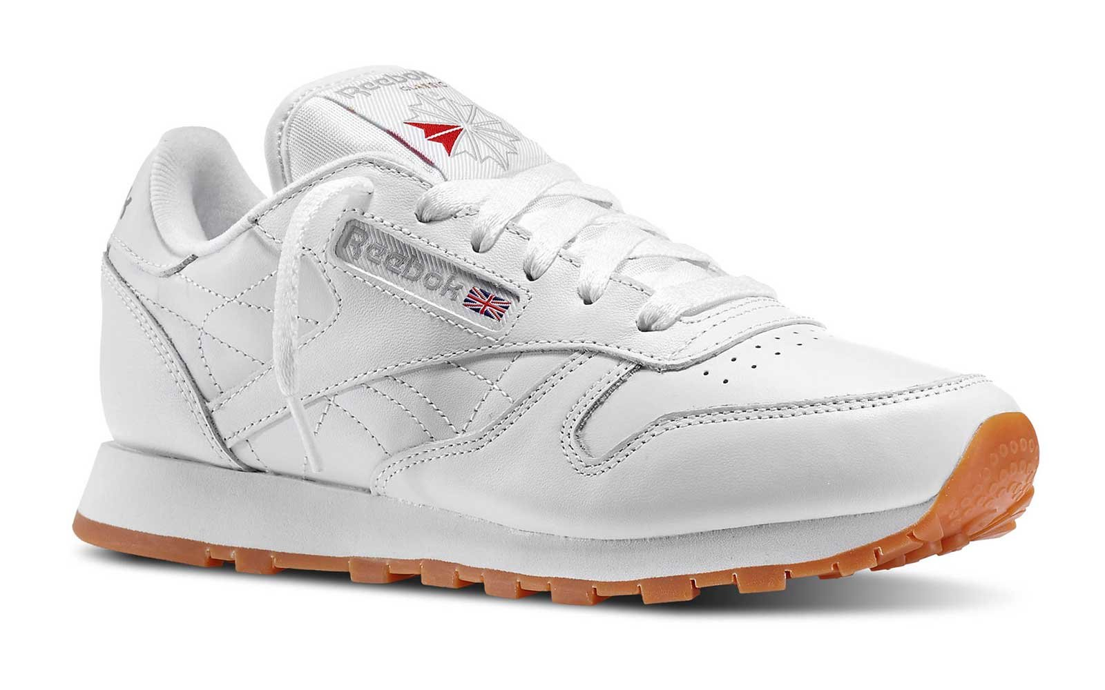 Reebok white leather sneaker