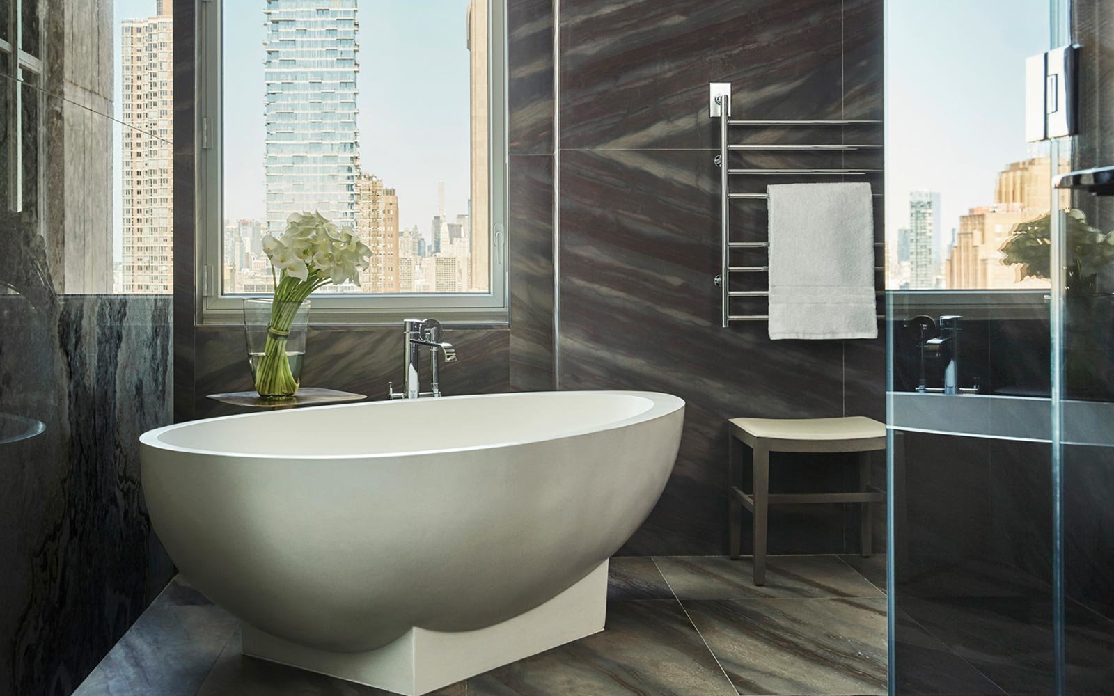 Bathtub in the suite at the Four Seasons New York Downtown