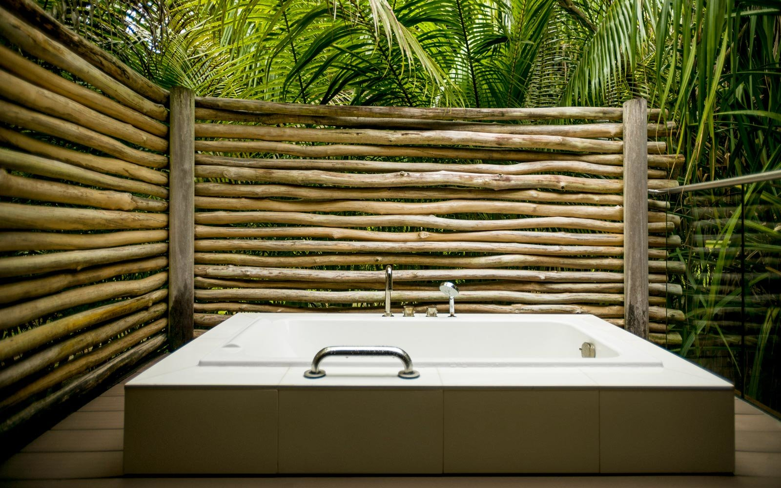 Bathtub at the Brando hotel