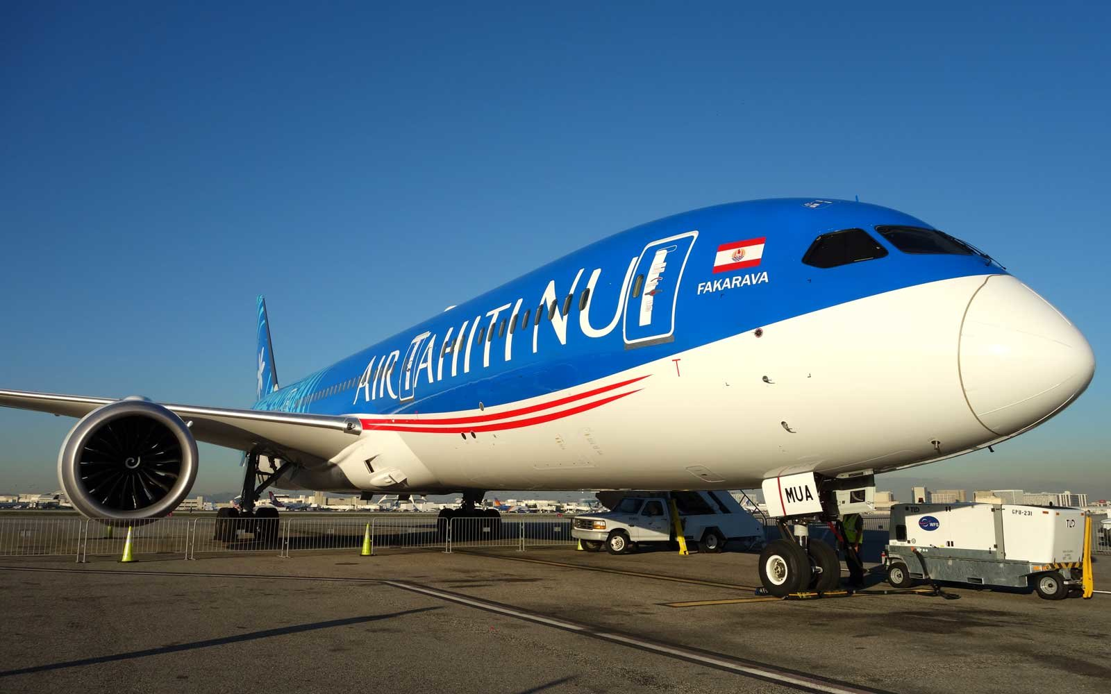Exterior of the Air Tahiti Nui Boeing Dreamliner