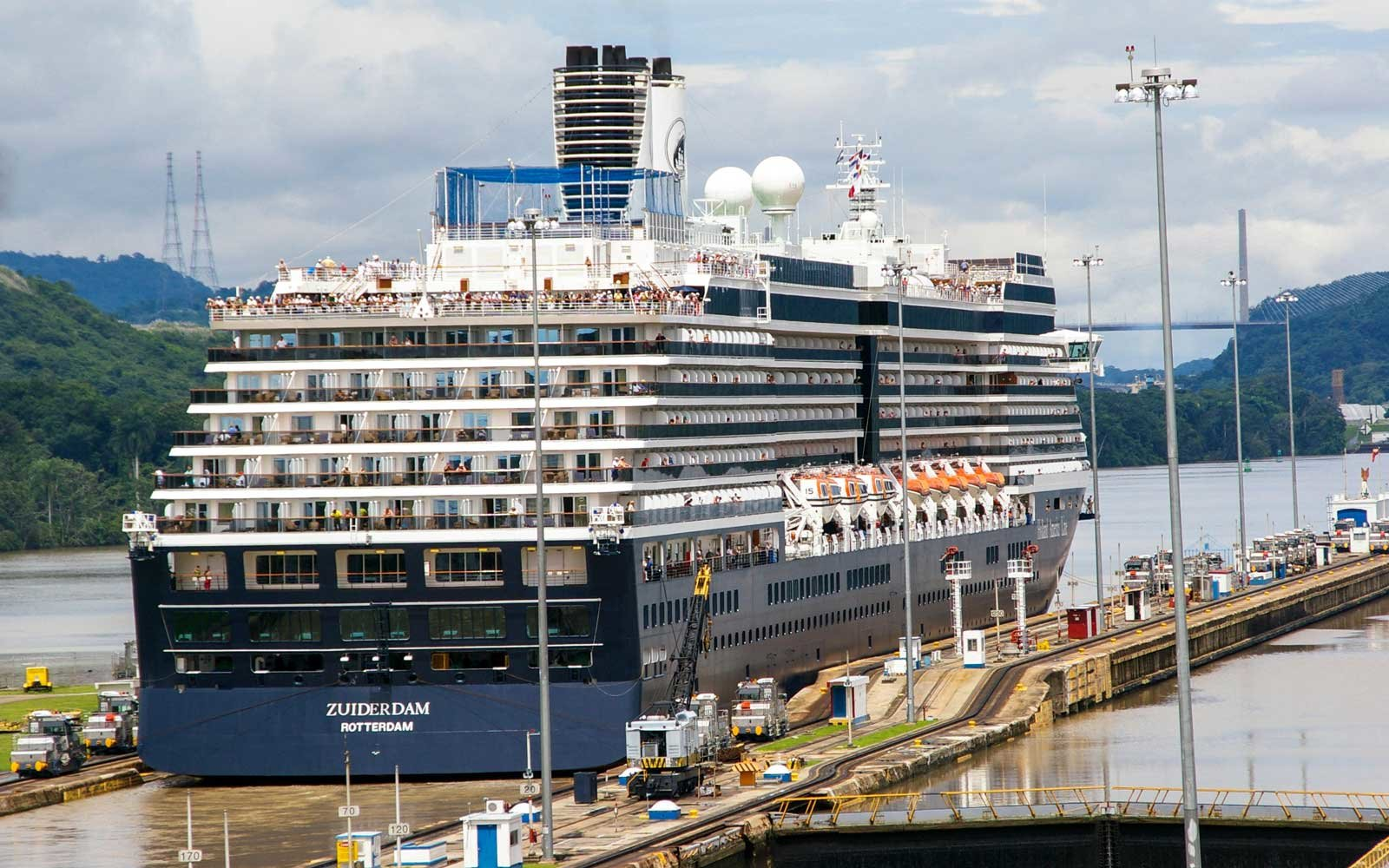 Holland America's Zuiderdam ship on the Panama Canal