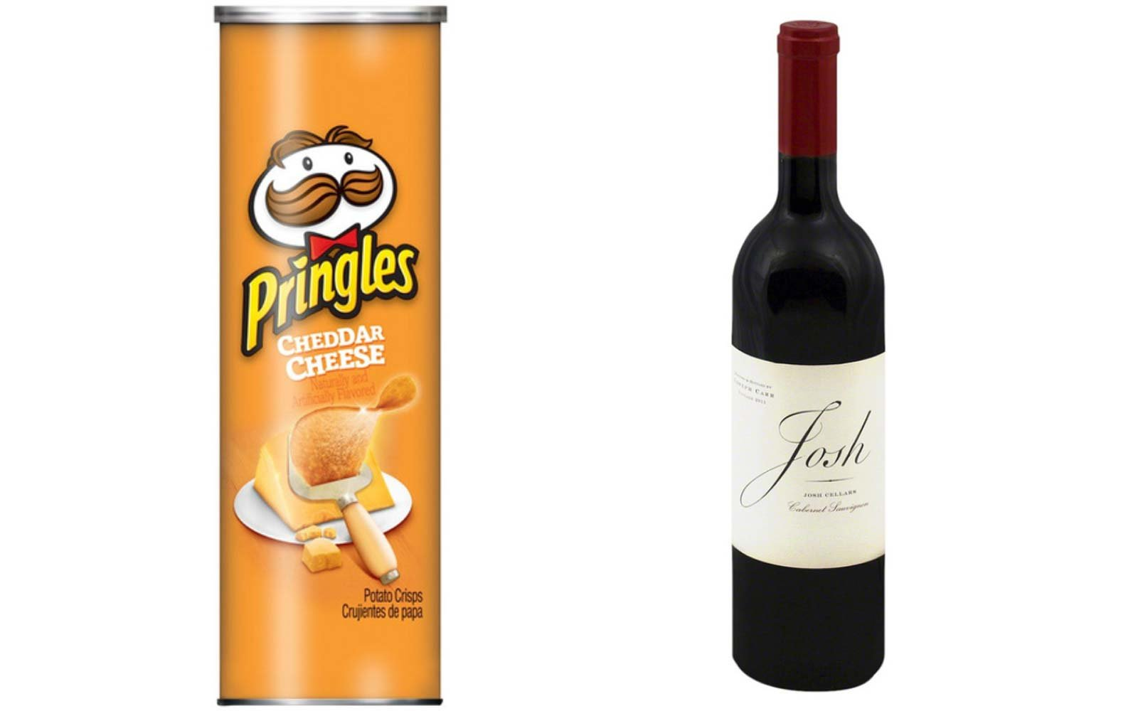Pair Cheddar Pringles with Cabernet Sauvignon