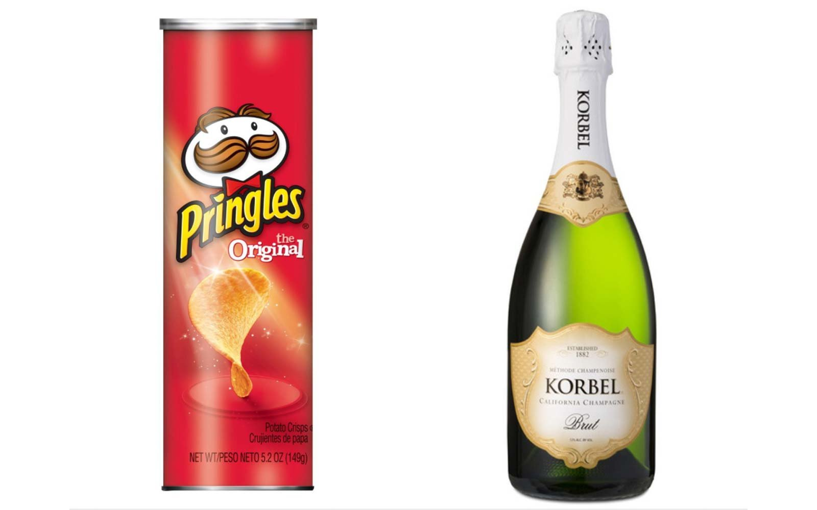 Pair Original Pringles with Champagne